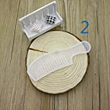 DishyKooker UV Resin Silicone Comb Mold Epoxy Resin Molds for DIY Caroon Tools Making 2# Safety