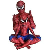 スパイダーマン 全身タイツ(赤)ライクラ 弾力と伸縮性あり 子供用 大人用 コスプレ衣装 コスチューム イベント (身長:100~110cm)