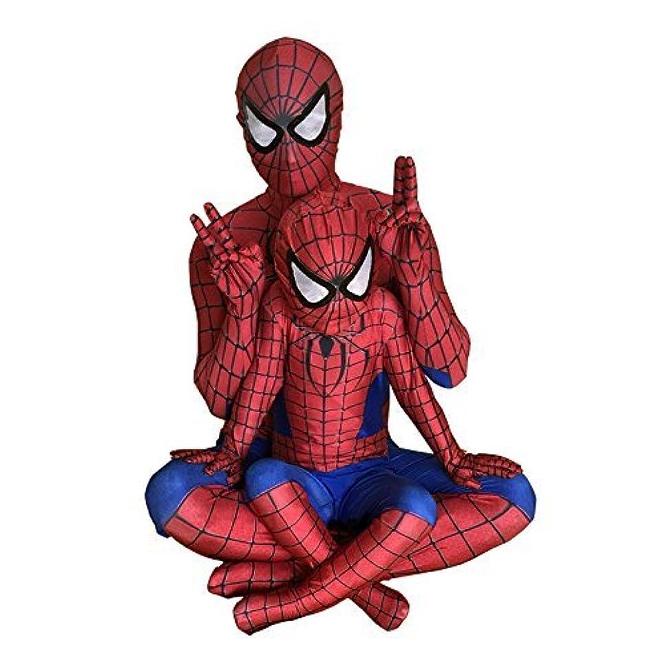 控える想起押し下げるスパイダーマン 全身タイツ(赤)ライクラ 弾力と伸縮性あり 子供用 大人用 コスプレ衣装 コスチューム イベント (身長:120~130cm)