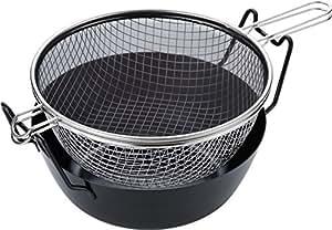 ラバーゼ 有元葉子の揚げ鍋 セット 28cm 鉄製 IH対応 油はね防止ネット 揚げかご付 LB-090