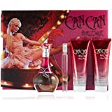 Paris Hilton Can Burlesque by Paris Hilton for Women - 4 Pc Gift Set 3.4oz EDP Spray, 3oz Body Lotion, 3oz Bath & Shower Gel, Coin Purse, 4 count