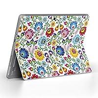 Surface go 専用スキンシール サーフェス go ノートブック ノートパソコン カバー ケース フィルム ステッカー アクセサリー 保護 花 フラワー カラフル 010857