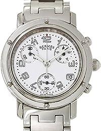 エルメス HERMES クリッパー クロノグラフ CL1 310 レディース 腕時計 ホワイト 白 文字盤 デイト クォーツ ウォッチ 【中古】 90027158 [並行輸入品]