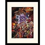 AVENGERS アベンジャーズ (『エンドゲーム』4月26日公開記念) - Infinity War/Gauntlet Character Collage/額入りフォトボード/インテリア額 【公式/オフィシャル】