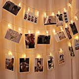 Cshare 写真飾りライト LED ストリングスライト 3M 30LED 写真クリップ DIY壁飾り LEDイルミネーションライト ピクチャーフレーム ジュエリーライト ワイヤーライト クリスマス/新年/結婚式/誕生日/祝日/パーティー 写真飾りなどに適用 ウォームホワイト