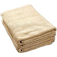 8年タオル バスタオル 65cm×135cm ベージュ 3枚セット