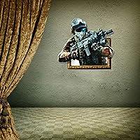 3D兵士の隠し壁アートステッカー