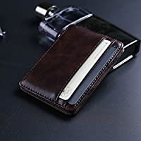 Burmtiz Men's Wallets Slim Card Case Leather Wallet for Men Credit Card Holder with Thin Front Pocket