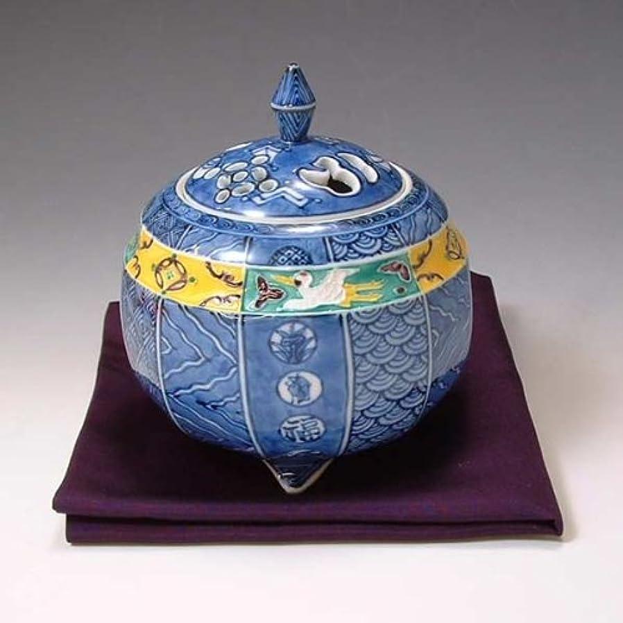 優雅な精度作曲する京焼 清水焼 香炉(帛紗付) 翔宝古紋 しょうほうこもん YSY168