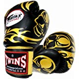 Twins ボクシンググローブ 本革製 スカル Gold/Black