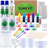 Ultimate DIY Slime Kit for Girls and Boys | Slime Kits | Slime Stuff | Slime Making Kit | Slime Supplies Kit |Makes Cloud, Galaxy, Mermaid, Fruit Slice, Fluffy, Glow-In-The-Dark, Color Changing & More