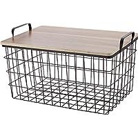現代百貨 ワイヤー バスケット テーブル ブラウン テーブル付 ピクニック バスケット A271BR 086007