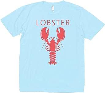 おもしろ デザイン LOBSTER ロブスター Tシャツ 水色 MLサイズ