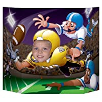 Football Photo Prop Party Accessory (1 count) (1/Pkg) [並行輸入品]