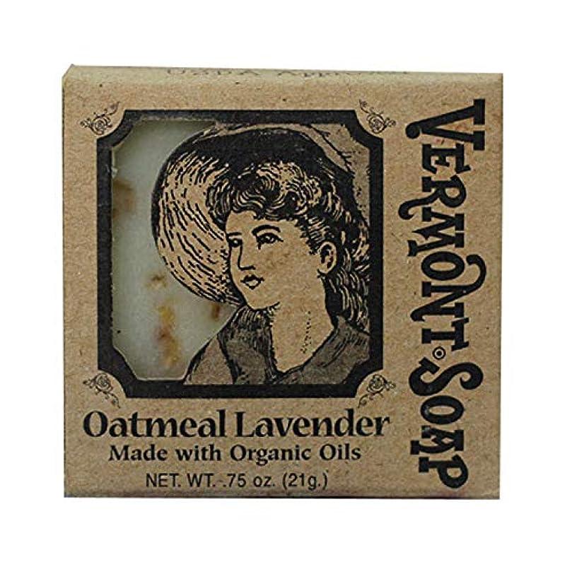 オフセット水を飲む普遍的なバーモントソープ トラベル用 (オートミールラベンダー) オーガニック石鹸 洗顔 21g