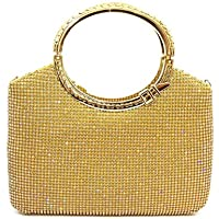 Ladies Girls Clutch Bag Evening Wedding Bridal Prom Handbag Purse Bag,Yellow,22 * 22 * 5.5CM