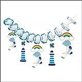 夏のマリンブルー装飾 夏のカモメマリンガーランド L180cm[夏?海?ディスプレイ?装飾?飾り]  22357