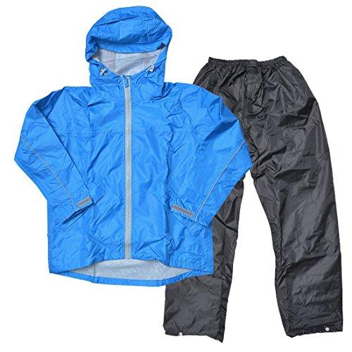 レインウェア キッズ 上下セット レインスーツ 防水 軽量 子供用 カッパ 雨具 自転車 7560 蒸れにくい