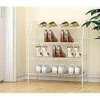 シューズラック- シェルフシンプルな金属靴ラック家庭用学生寮マルチ階建てアイアンシェルフ