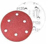 [Nikayoni Store's] サンダー 汎用 サンディングペーパー マジックペーパー 金属 研磨 塗装 剥離 錆取り (粒度 120#)