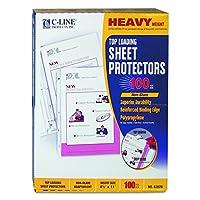 Heavyweight Polypropylene Sheet Protector, Non-Glare, 11 x 8 1/2, 100/BX (並行輸入品)