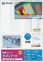 ヒサゴ CJ名刺10面/光沢&マット100枚 CJ602