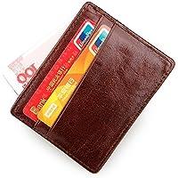スリムな女性の革の小銭入れカードホルダー財布
