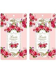 ノルコーポレーション エアーフレッシュナー ルーリィ 消臭成分配合 2枚セット ローズ&フローラルの香り ロマンティックタイム