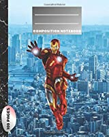 Composition Notebook: Blank Paper Notebook Journal,Workbook for Kids, Iron Man,Teens, Students for Back to School and Home College Writing,Unique Notebook (109 Pages,Blank Paper,8 x 10) (School Notebook)