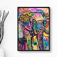 11401紫象B#パターン家の装飾プリント壁アート写真キャンバス絵画家の装飾(多色)