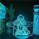 Attack On Titans LED Lamp Levi Ackerman 3D Anime Night Light Bedroom Decor Kid Lampe Home Decoration Lampara De Noche Dormito