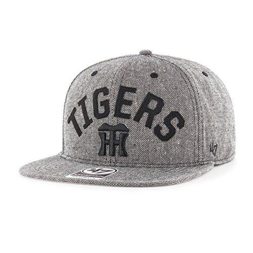 ベースボールキャップ 阪神タイガース Tigers ヘリングボーンアーチ '47 CAPTAIN ブラック