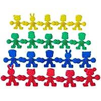 Camkey Buddies in a Bag - 楽しい幼児&幼稚園学習玩具 男の子&女の子用 - 幼児用モンテッソーリ玩具 - 教育リンキング&カラー分類運動スキルおもちゃ 2 3 4 5歳用