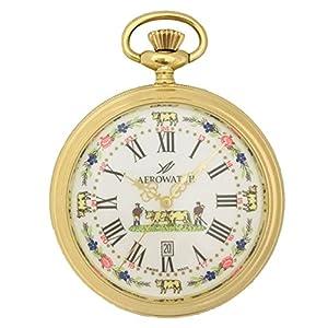 [アエロウォッチ]AEROWATCH 懐中時計 オープンフェイス デイト SWISS MADE 45797 JA01 【正規輸入品】