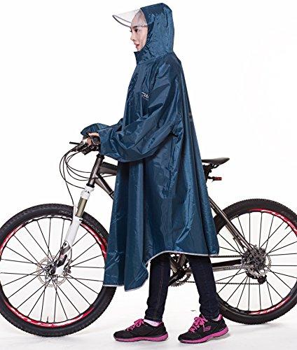 GXQ-S レインコート 自転車 バイク ロングポンチョ フ...