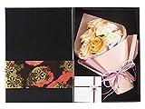 KIZAWA ソープフラワー フラワーギフト 枯れない花 フラワーボックス 誕生日 プレゼント バレンタイン ホワイトデー 母の日 敬老の日 ギフト 結婚記念日 お祝い など 大切な人に 感謝の気持ちを伝える 花束 (7本オレンジ&黒ボックス)