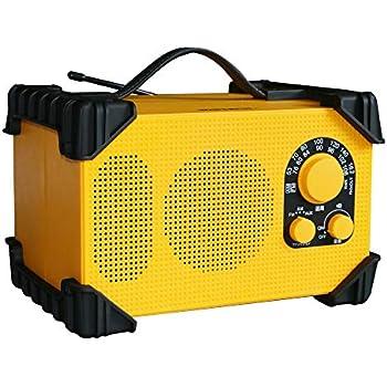 WINTECH AM/FM防塵防滴現場ラジオ GBR-3D IP54等級相当