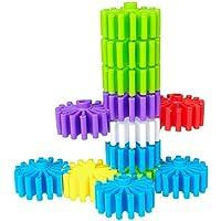 Baiyu Kidsインターロックギアブロック建物ローラーブロック教育玩具Assemble toys-buildsインテリジェンスおもちゃ子供の想像力と創造性を刺激直径3.3 CM