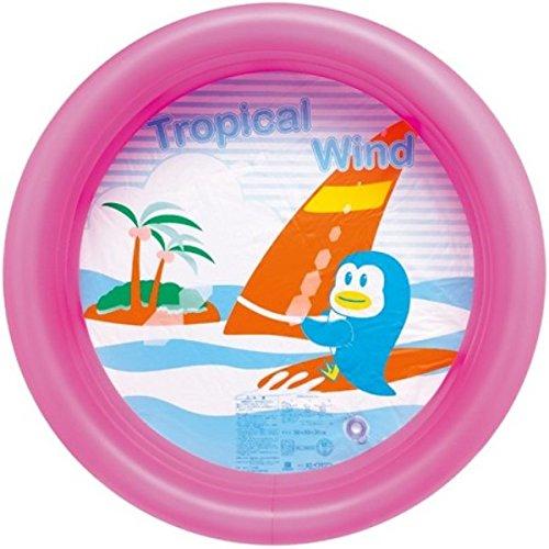 [해외]비닐 수영장 서핑 펭귄 수영장 핑크 직경 80cm × 높이 22cm 정원에서 베란다에서/Vinyl Pool Surf Penguin Pool Pink Diameter 80 cm × height 22 cm In the garden on the veranda