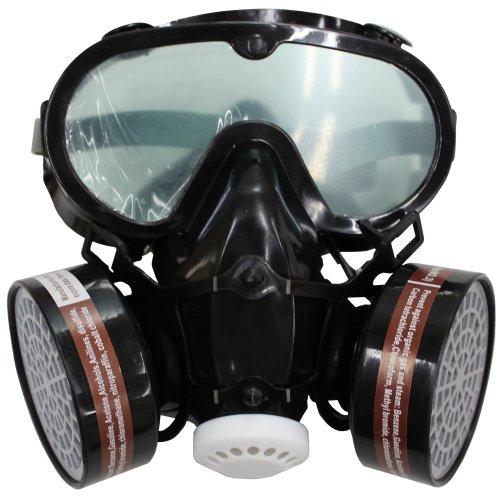 防塵マスク 保護メガネ ゴーグル セット 活性炭フィルター2個付き