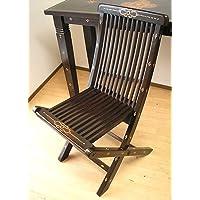 アジアン雑貨 ロンボク チーク 椅子 格子 折りたたみ