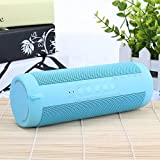 ZYZRYP Original T2 Bluetooth Speaker Waterproof Portable Outdoor Wireless Mini Column Box Speaker Support TF card FM Stereo Hi-Fi Boxes (Color : Sky Blue)