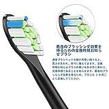 ITECHNIK フィリップス ソニッケアー 対応 電動歯ブラシ 替えブラシ ダイヤモンドクリーンブラシヘッド ブラック レギュラーサイズ (12ピース) 画像
