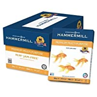 106310 Hammermill コピー&多目的用紙 - レター - 8.50インチ x 11インチ - 20ポンドの基本重量 - 0%のリサイクル品 - 97の明るさ - 5000 / カートン - ホワイト