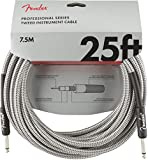 Fender シールドケーブル Professional Series Instrument Cable, 25', White Tweed