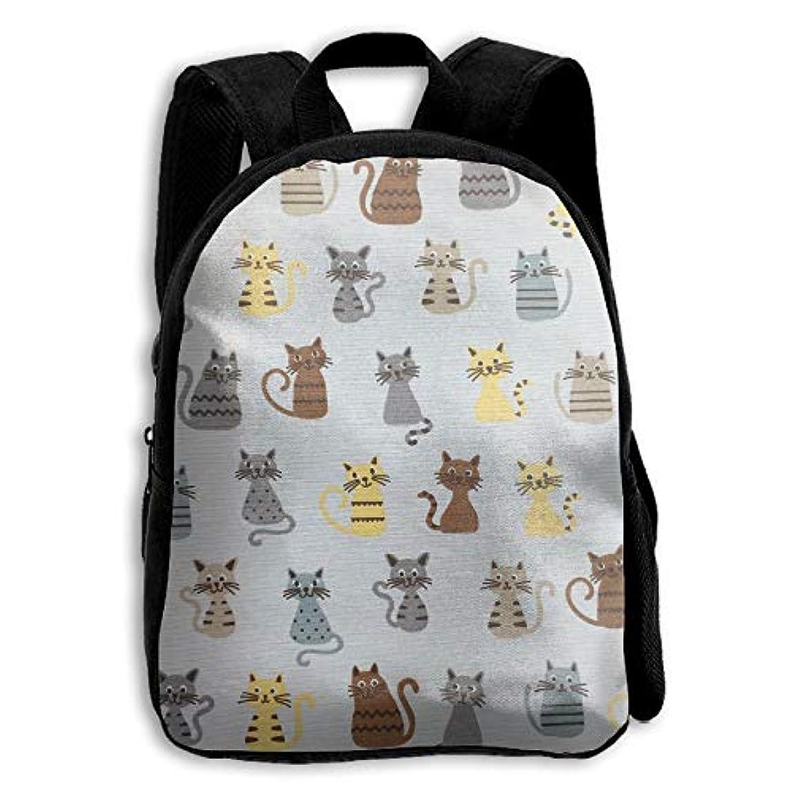 元の何でも散らすキッズ バックパック 子供用 リュックサック カートゥーン 猫 ショルダー デイパック アウトドア 男の子 女の子 通学 旅行 遠足