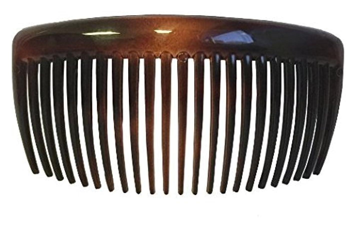 噴火アマゾンジャングル支給Parcelona French Large 2 Pieces Glossy Celluloid Shell Good Grip Updo 23 Teeth Hair Side Combs 4.25 Inches for...