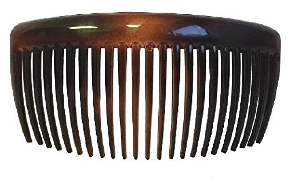ホイール国民投票学んだParcelona French Large 2 Pieces Glossy Celluloid Shell Good Grip Updo 23 Teeth Hair Side Combs 4.25 Inches for...