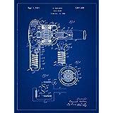 ヘアドライヤー1929 – Beauty blueprint-styleアートプリント 8x10 inch