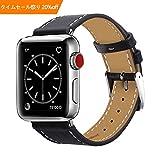 BRG For apple watch バンド,本革 ビジネススタイル アップルウォッチバンド アップルウォッチ1 apple watch series 2 apple watch series 3 レザー製(42mm,ブラック)